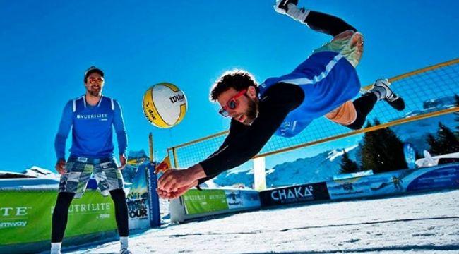 Kar Voleybolu Avrupa Turu Erciyes'te Başlıyor