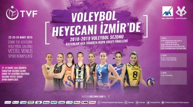 Bayanlar Kupa Voley'de Final Etabı Başlıyor