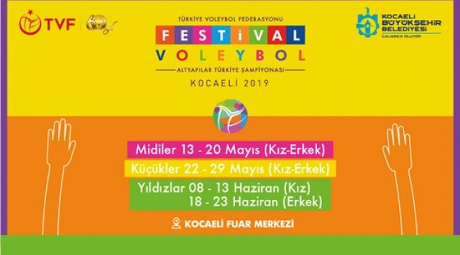 Festival Voleybol Türkiye Şampiyonası Kocaeli'de
