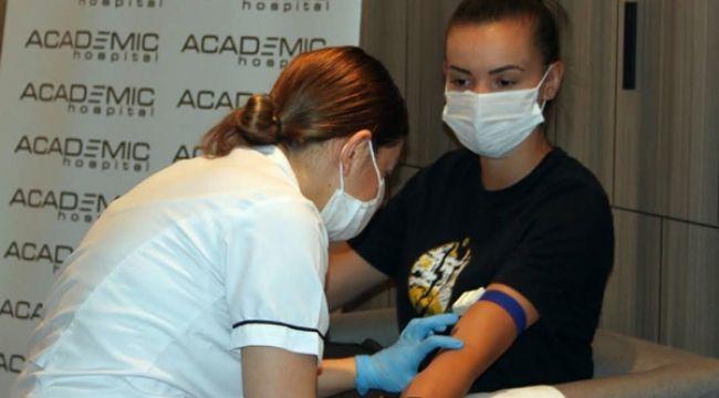 VakıfBank'lı oyuncular sağlık kontrolünden geçti