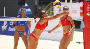 Plaj Voleybolu Avrupa Şampiyonası'nda 2.Gün Sona Erdi